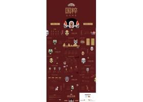 中国风国粹戏剧脸谱ppt模板