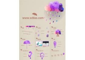 紫色简约商务ppt模板