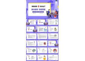 预防疫情安全生产宣传ppt模板