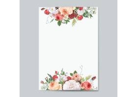 花卉设计婚礼邀请函样机_4089235