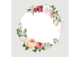 花卉设计婚礼邀请函样机_4121939