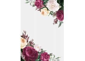 花卉设计婚礼邀请函样机_4121941