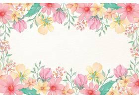 粉色水彩花壁纸_6929469
