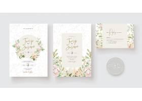 结婚贺卡模板花卉设计_10542276
