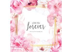 带有爱情信息的浪漫花框_4389843