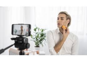 男性化妆造型正在拍摄中_11500270