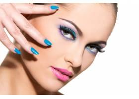 化妆五颜六色的漂亮女孩_6317408