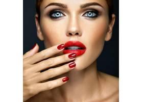 每日妆容清新的性感美女模特特写画像_6766409