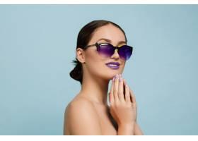 化妝亮麗戴墨鏡的美女肖像時尚時尚的_11649235