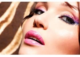 化妝時尚亮麗的美女特寫臉_10729444