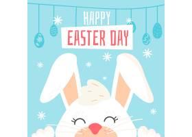 平面设计背景和兔子一起复活节快乐_6889101