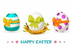 巢中有不同图案的复活节彩蛋_11571842