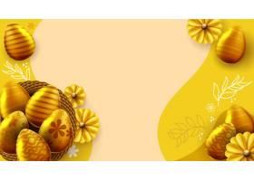 巢中有复活节彩蛋的复活节横幅模板_13100159