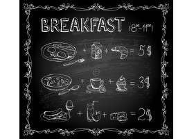 矢量模板早餐黑板菜单复古海报_10703114