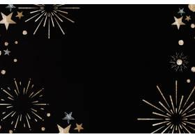 新年烟花节庆框架黑色背景_11563774