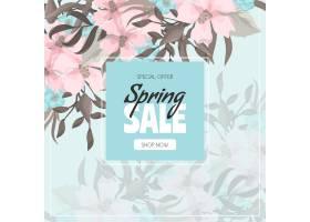 春节大甩卖的背景是绚丽多彩的鲜花_13045022