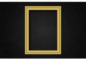 墙上简约的金色框架_4119981