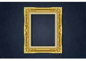 墙上简约的金色框架_4239296