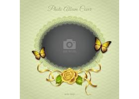 黄色玫瑰花的浪漫相框_957643