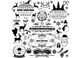 黑色圣诞标签_985489