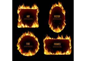 黑色背景上的热火火焰框架_3949334