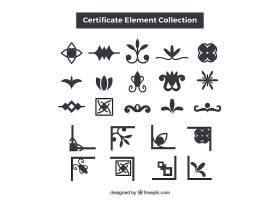雅致的证书元素收藏_2487302