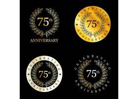 金色的75周年庆典桂冠_887393