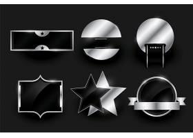 银色空白徽章或标签设计收藏_8765790