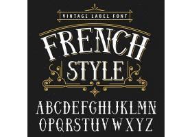 法式复古海报适合用于任何复古风格的插图_10708536