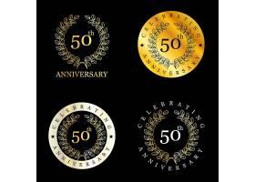 带桂冠的金50周年徽章_887309