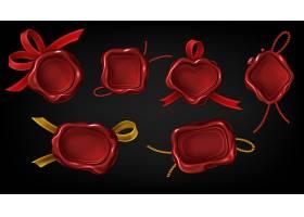 红蜡印章用于信件文件或证书_9376712