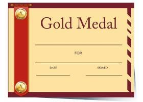纸质金牌证书模板_1817847