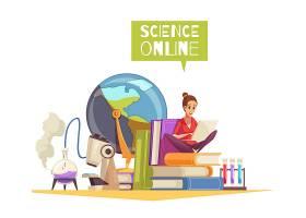 大学理科学位资格网上远程学习广告漫画作文_6845876