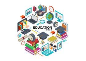 等距在线教育圆周概念带在线培训装置毕业_12986357