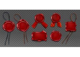 红蜡印章审批盖章图标套装_8792375