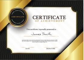 带有金色元素的装饰性毕业证书模板_327876503