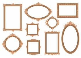 华丽的空金色边框平面网页设计_12699801