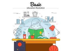 基础教育线型色彩概念带着孩子做作业_9377412