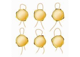 信件保函或证书用带绳金色蜡封_13100340