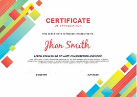 具有抽象设计的现代证书模板_321987303