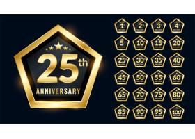 高级徽章样式设计中设置的周年纪念标签_9508765