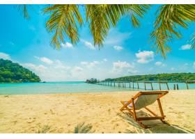 美丽的热带海滩和大海_412338001
