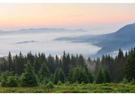 旅行徒步旅行夏天的风景山绿草树_1000158701