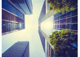 城市周围有建筑和建筑的美丽摩天大楼_371784101
