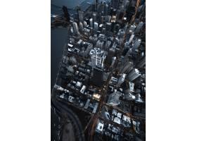 城市现代商业建筑的空中俯瞰_795575201