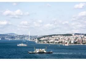 伊斯坦布尔的海洋景观与游轮_307928001