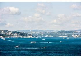 伊斯坦布尔的海洋景观与游轮_322077701