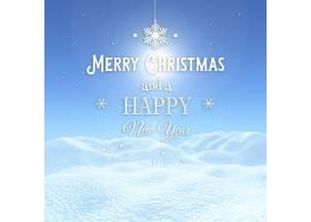 3D圣诞节背景带装饰文字的雪景_344916901