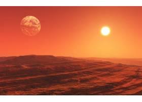 3d超现实火星风景画_400739301