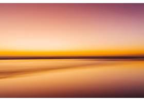 五颜六色的日落中的大海具有运动效果壁_1011170501